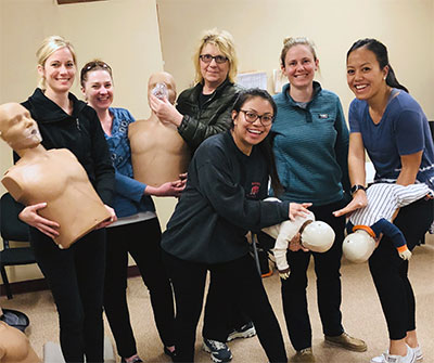 Harris Family Dental Staff at CPR training